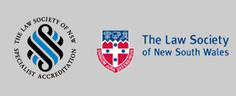 The Law Society of NSW Accreditation Specialist and NSW Law Society Logo